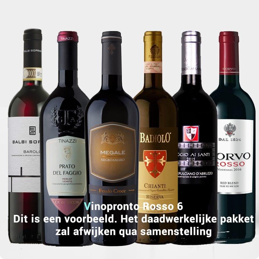 Kennismakingspakket Vinopronto Rosso 6 (6 x rood)
