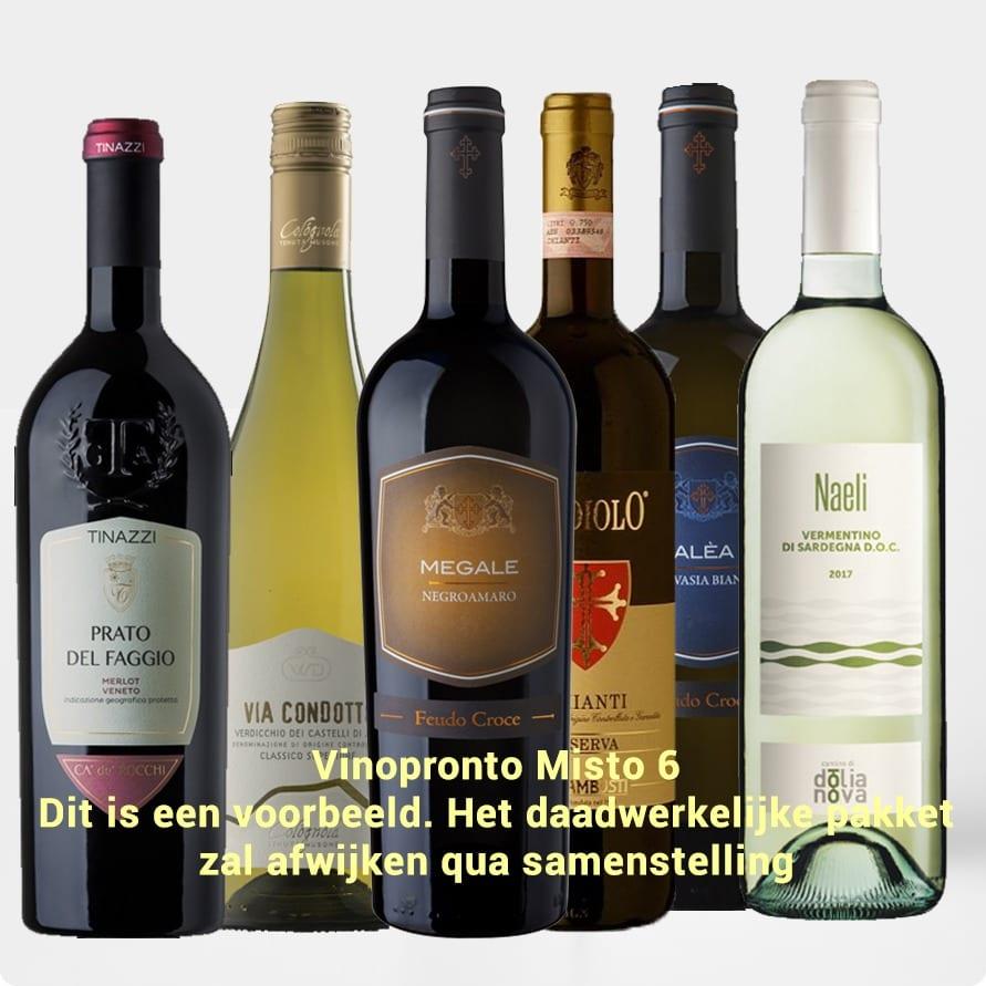 Kennismakingspakket Vinopronto Misto 6 (6 x gemengd)